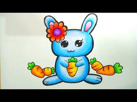 Menggambar Dan Mewarnai Kelinci How To Draw Bunny Mewarnai