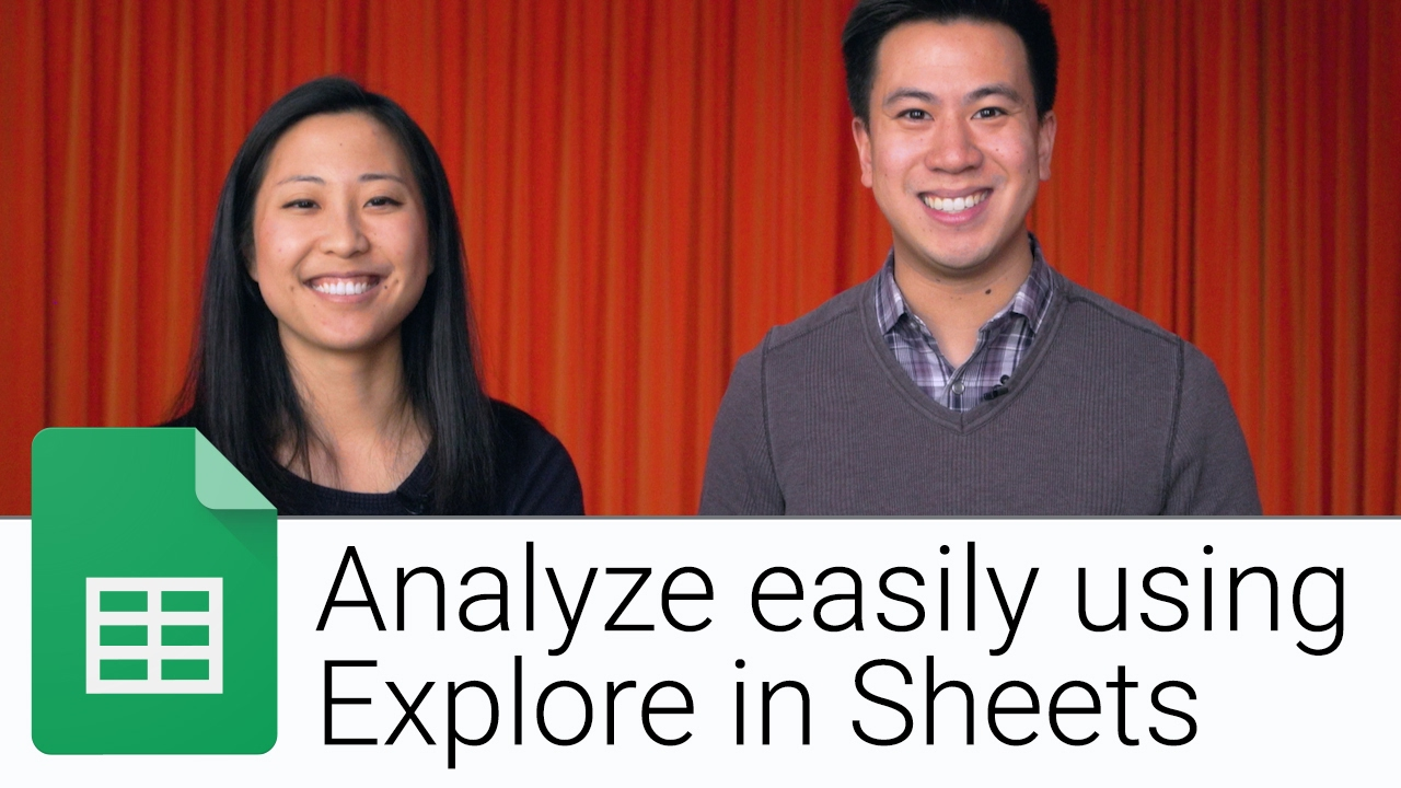 Analyze easily with Explore in Sheets | The G Suite Show