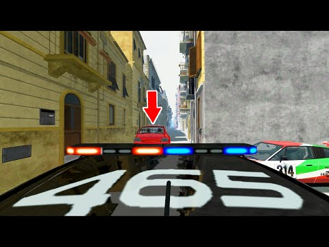 Crazy Police Chase - BeamNG DRIVE   CrashTherapy