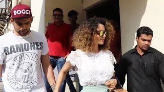 Kangana Ranaut With Brother SPOTTED At PVR Juhu