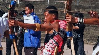 Morung of Zeliang tribe and the archery competition