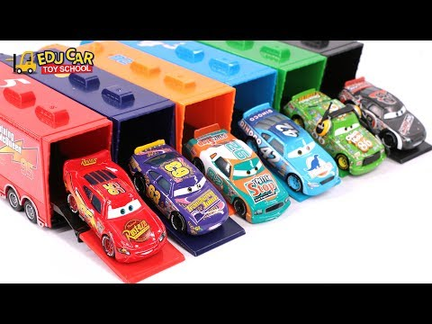 Learning Color Special Disney Pixar Cars Lightning McQueen Mack Truck Playset for kids car toys