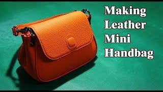 17 [가죽공예] 미니 핸드백 만들기 Ver1 / [Leather Craft] Making Mini Handbag Ver1 / Free Pattern