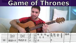 Fingerstyle Tutorial: Game Of Thrones Theme - Guitar Lesson W/ TAB