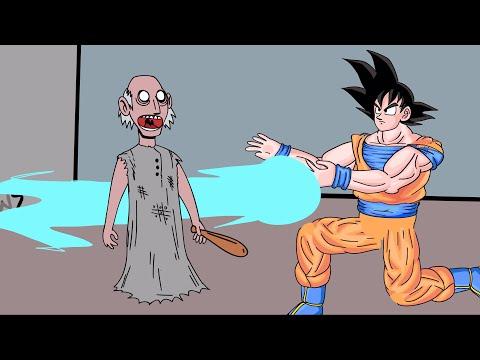 GRANNY THE HORROR GAME   Goku VS Granny Game (видео)