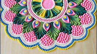 Top Krishna janmashtami rangoli designs with colours l जानिए कैसे बनाएं खूबसूरत रंगोली l rangoli