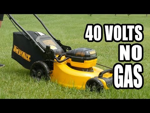 DeWalt 40V Battery Powered Lawnmower Review