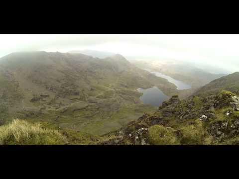 Climbing Mount Snowdon. Pyg/Miners Track.
