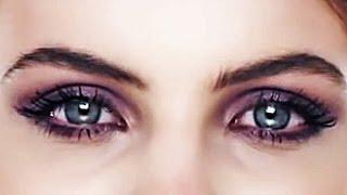 Смотреть онлайн Вечерний макияж в сиреневых тонах