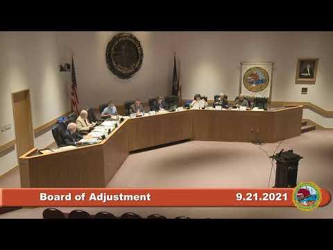 9.21.2021 Board of Adjustment