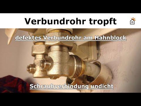 defektes Verbundrohr am Hahnblock reparieren