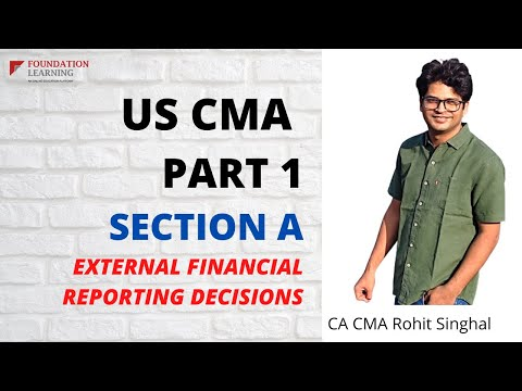 US CMA PART 1 , Section A - LECTURE 1 2021 - YouTube