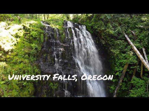 University Falls, Tillamook State Forest, Oregon (4K Drone)