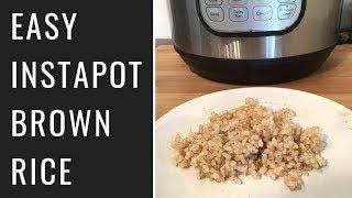 Easy InstantPot Brown Rice (Vegan, Oil Free)