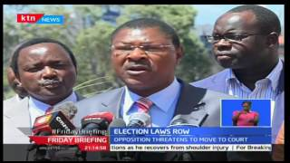 Friday Briefing: CORD alleges that Senate Speaker Ekwe Ethuro of under-handing the Senate vote