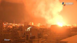 Violenţe israeliano-palestiniene: Forţele israeliene intensifică raidurile aeriene şi combat revoltele interne