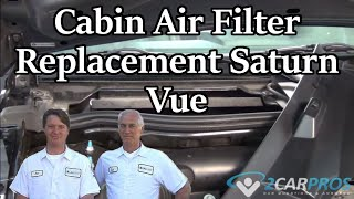 Cabin Air Filter Replacement Saturn Vue