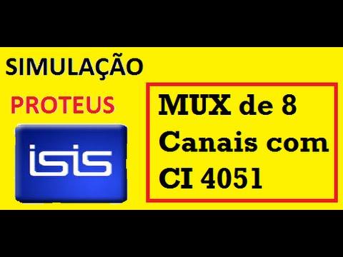 Eletrônica Digital 29 - MUX - Multiplexador com CI 4051