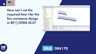 FAQ 004170 | How can I set the required time t for the fire resistance design in RF‑/STEEL EC3?