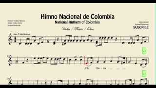 National Anthem of Colombia Sheet Music for Violin Flute and Oboe