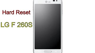How to Hard Reset LG F260S