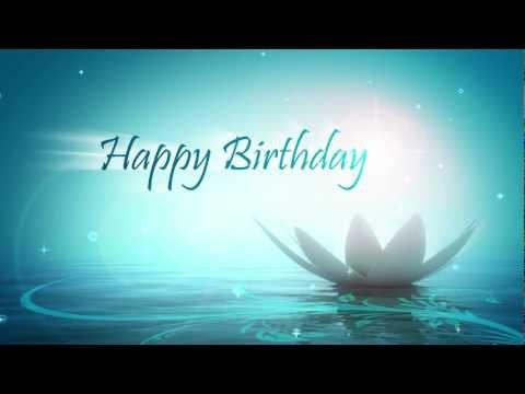 Theme: Birthday cards  e-card: happy birthday motion graphic