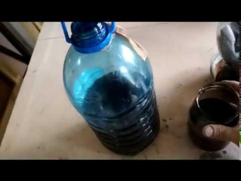 ВАРИАНТ ОЧИСТКИ ОТРАБОТАННОГО МАСЛА!  Purification of oil for lubrication of the chainsaw chain.