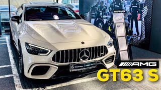 2019 MERCEDES AMG GT 4-Door 63 S FULL REVIEW Diamond White Red Pepper Exclusive Nappa Leather