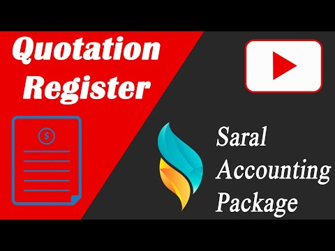 Quotation Register in Saral | Saral Accounting Package