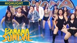 Sexbomb dancers greet Angelica Panganiban! | Banana Sundae