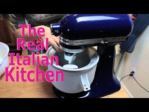 Video Vanilla Ice Cream w/Kitchen Aid Attachment - Real Italian Kitchen