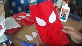 DIY Spiderman Favor Bags | SUPER EASY!!!