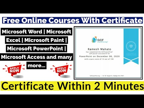 Microsoft Office Free Certification | Ms Word | Ms Excel | Ms ...