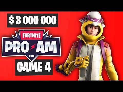Fortnite PRO AM Game 4 Highlights - PRO AM Final Game Highlights Final Results [Summer Block Party]