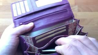 Vorstellung Damen Geldbörse in zarter Beerenfarbe