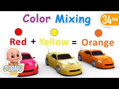 How to Make Colors for kids -  Colors with Paints Trucks -  kindergarten and toddlers learning