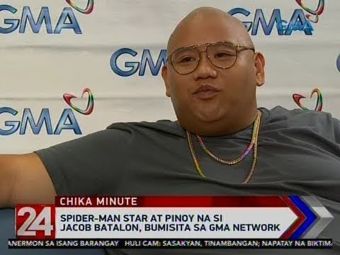 [GMA]  24 Oras: Spider-Man star at Pinoy na si Jacob Batalon, bumisita sa GMA Network