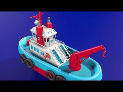 Schiff (Boot) Animation beobachten Kinder
