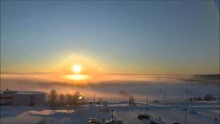 Winter solstice in Fairbanks, Alaska (December 21, 2012)