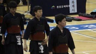 2019 대검기 전국중고교검도대회 고등부 단체전 김해영운고 VS 온양용화고