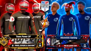 POWER DF vs MAVS GAMING - NBA 2K LEAGUE $25,000 3V3 TOURNAMENT ROUND 1 NBA 2K20 PARK
