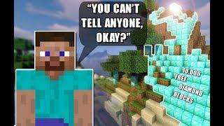 If You Tell Everyone Your Darkest Secret, You Win Diamond Blocks | Minecraft