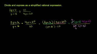 Dividing and Simplifying Rational Expressions