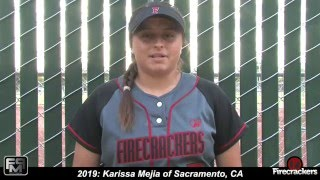 2019 Karissa Mejia Pitcher and 3rd Base Softball Skills Video