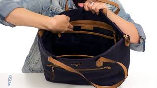 95e81b6f59d93c MICHAEL Michael Kors Nylon Kelsey Large Top Zip Tote SKU: 8976739 -  hmong.video