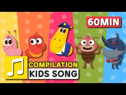 [Larva KIDS] WHEELS ON THE BUS and other songs from Larva KIDS | 27 English Kids Songs | 60 minutes