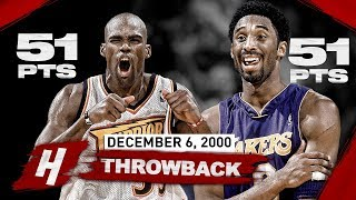 A DUEL FOR THE AGES! Kobe Bryant vs Antawn Jamison EPIC Highlights - 51 Pts EACH! | December 6, 2000