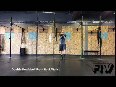 Double Kettlebell Front Rack Walk