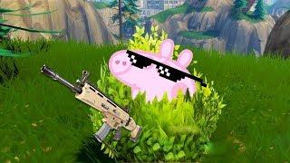 🐷 El arbusto mas cerdo de Fortnite 🐷  ➤ PEPA FORTNITE