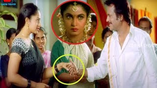 Soundarya & Rajinikanth Blockbuster Movie Ultimate Interesting Love Scene || Cinema Theater